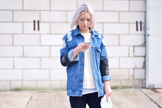 Denim jeans jacket, spring, summer, trends, 2015, mode blogger, fashion blogger