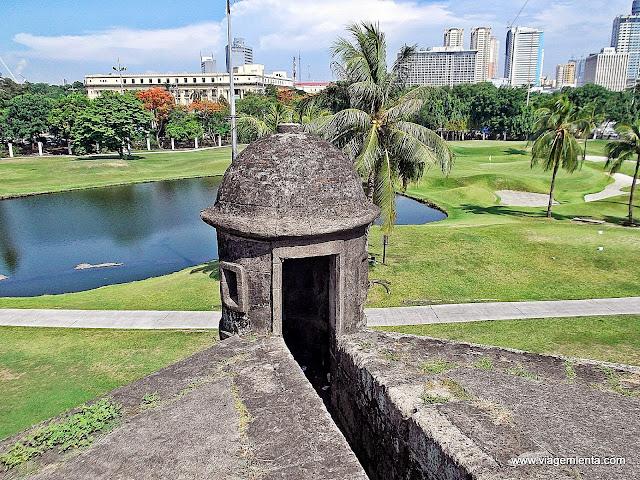 Vista a partir da muralha, Intramuros, Manila