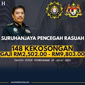 148 Pengambilan Pegawai SPRM Gaji RM2,502.00 - RM9,803.00