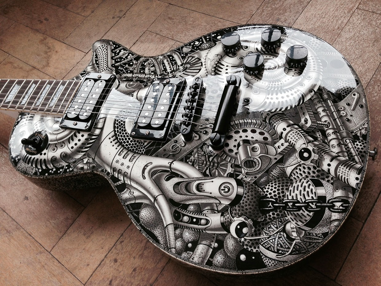 13 Guitar Samuel Gomez Massive Detailed Drawings And