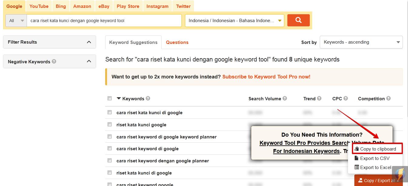 Cara Riset Kata Kunci Dengan Benar Menggunakan Google Keyword Tool