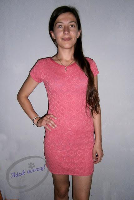 skracanie za długiej sukienki diy - Adzik tworzy