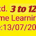 Std. 3 to 12 Home Learning :Date:13/07/2020