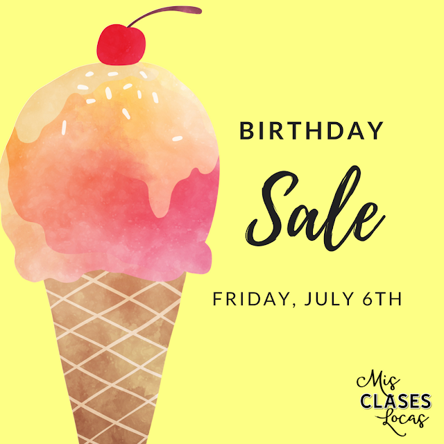 It is my birthday & you get the treat! - Mis Clases Locas Sale