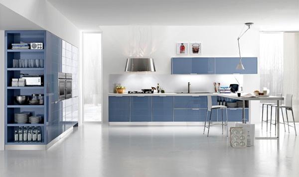 Fotos cocinas de color azul colores en casa - Cocinas azules y blancas ...