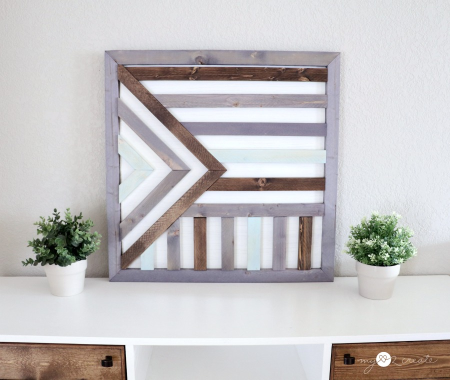 Easy Wooden Wall Art My Love 2 Create