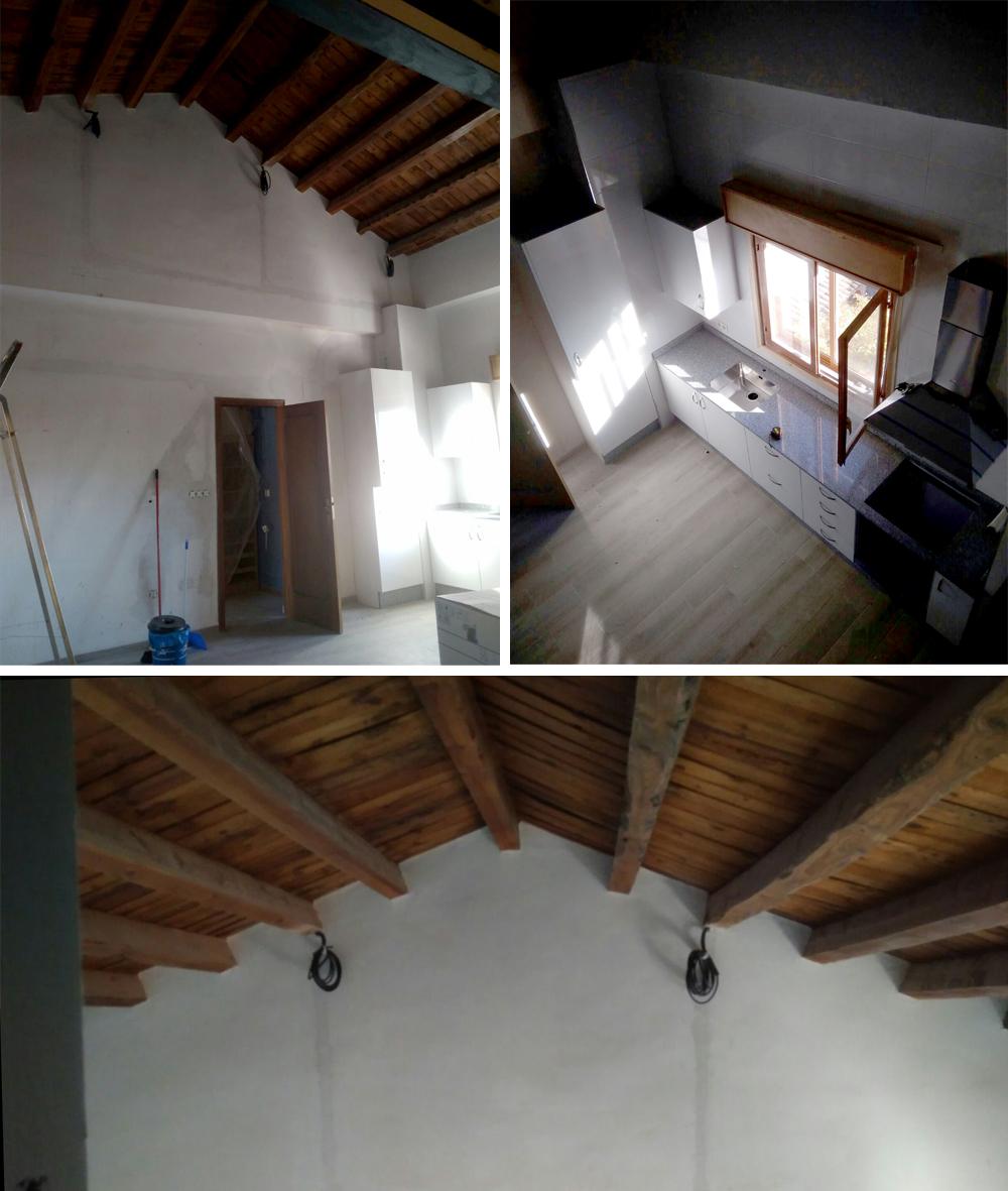 Consulta al experto c mo iluminar un sal n con techos - Vigas para techo ...