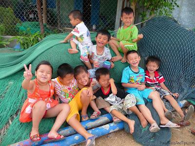 Phue, petit village de pêcheur et ses habitants à Nha Trang au Vietnam