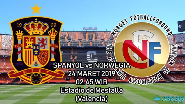 Prediksi Tepat Kualifikasi Piala Eropa Spanyol vs Norwegia (24 Maret 2019)
