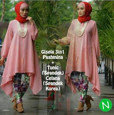 Jual Plus Jilbab / Kerudung 3 in 1 Set Gisella Hijab - 12258