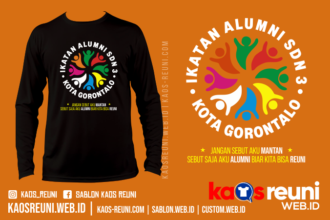 Kaos Ikatan Alumni SDN Kota Gorontalo - Desain Sablon Kaos Reuni Gathering - Kaosreuni.web.id
