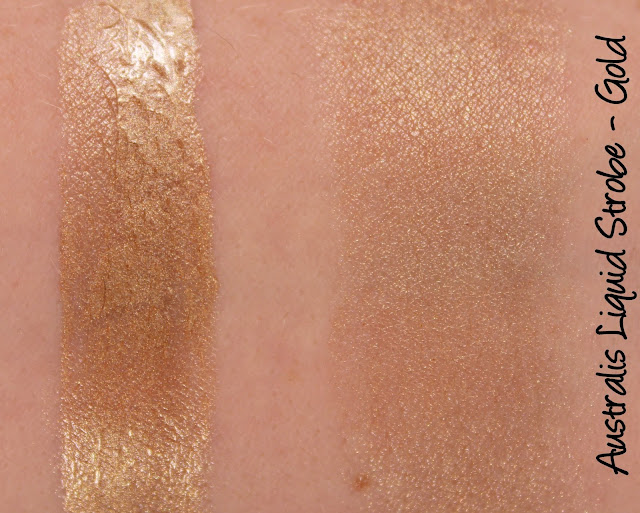 Australis Liquid Strobe Illuminating Drops - Gold Swatches & Review