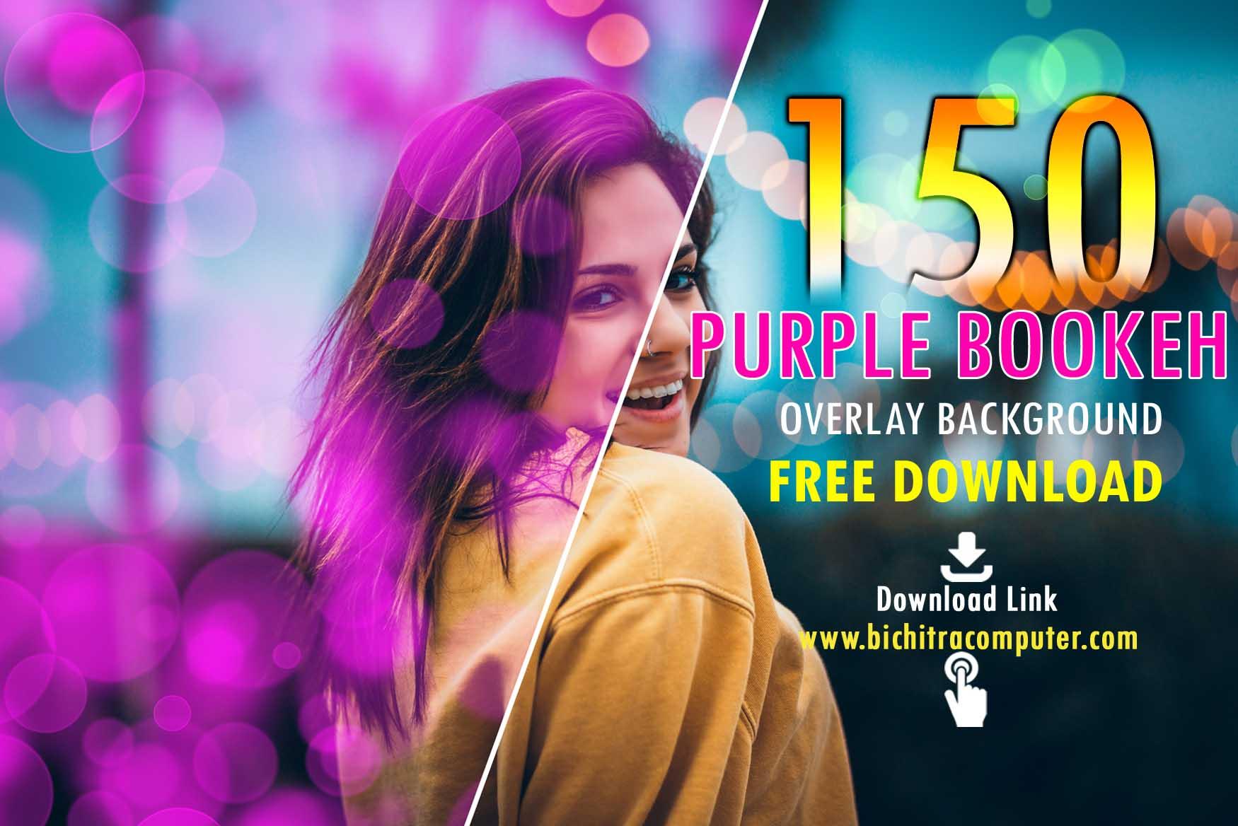 Purple Bokeh, Photo Overlays