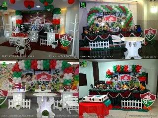 Decoração de mesa para festa de aniversário Fluminense