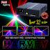 Đèn laser công suất cao, 32 màu phủ không gian tốt cho các sân khấu