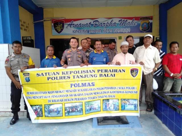Wujudkan Kamtibmas Kondusif, Satpolair Polres Tanjung Balai Rangkul Masyarakat Jadi Sukarelawan Polisi Perairan
