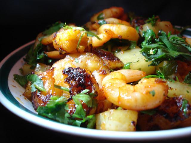 Crevettes Marinées à l'ail et aux épices