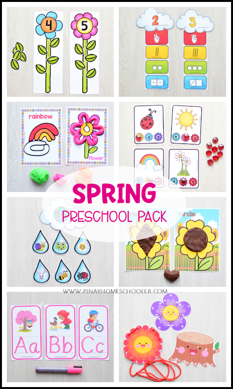 Spring Preschool and Kindergarten Learning Materials