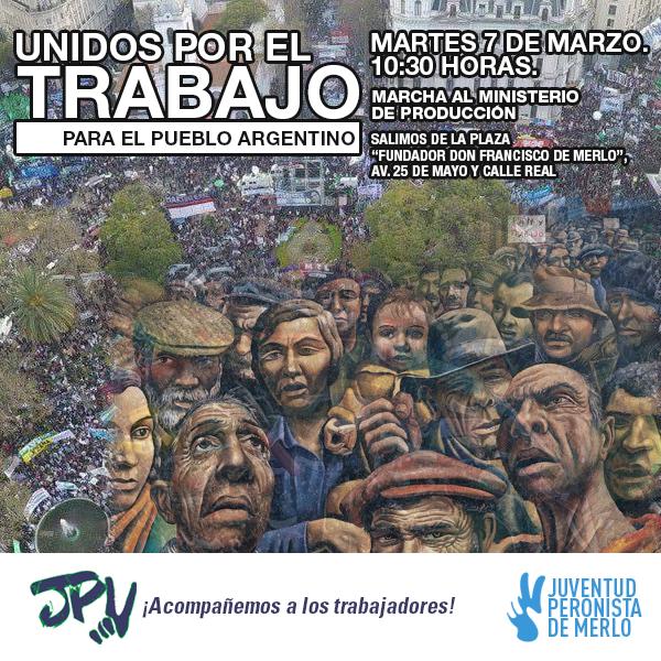 Flyer para la Juventud Peronista de Merlo