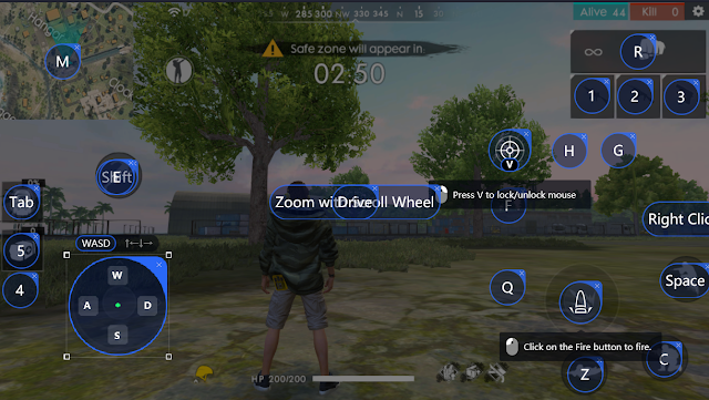 Tencent Gaming Buddy Free Fire 1.37.0 Update Key Mapping
