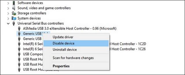 كيفية تعطيل منافذ USB على الكمبيوتر ويندوز10