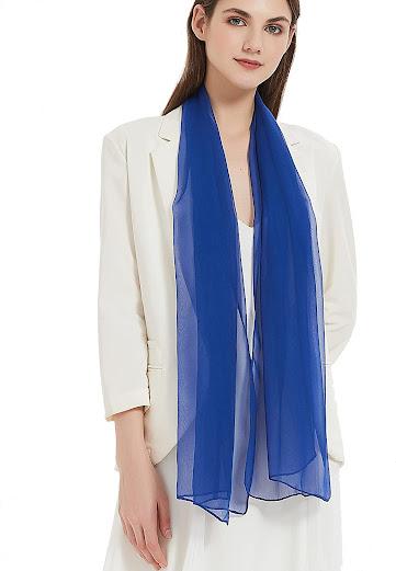 Best Quality Blue Chiffon Scarves Shawls