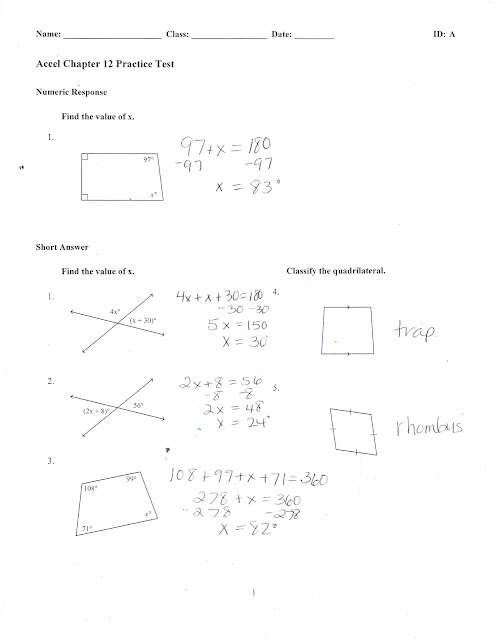 Ms. Jean's ACCEL 7 Blog: Chapter 12 Practice Test Answers