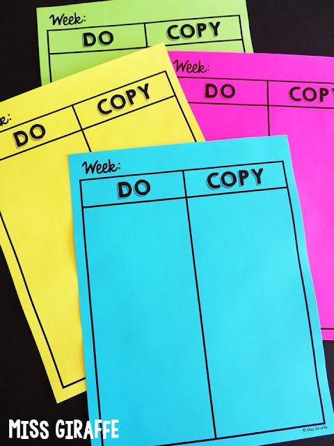 FREE Teacher to do list and copy list! Simple and perfect! Read about how she uses these along with a did list to get tasks done and feel good about each week!