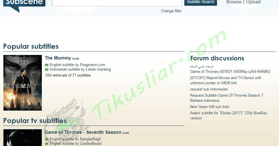 Situs Download Subtitle Film Bahasa Indonesia