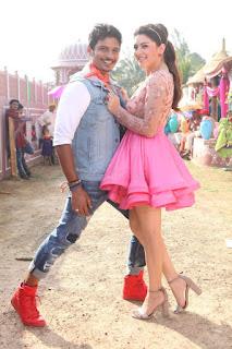 Hansika Motwani in Mini Skirts for movie Pokiri Raja spicy stills