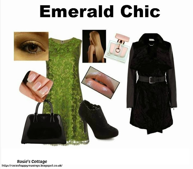 Release your inner designer with Polyvore - Emerald Chic by Rosies Cottage