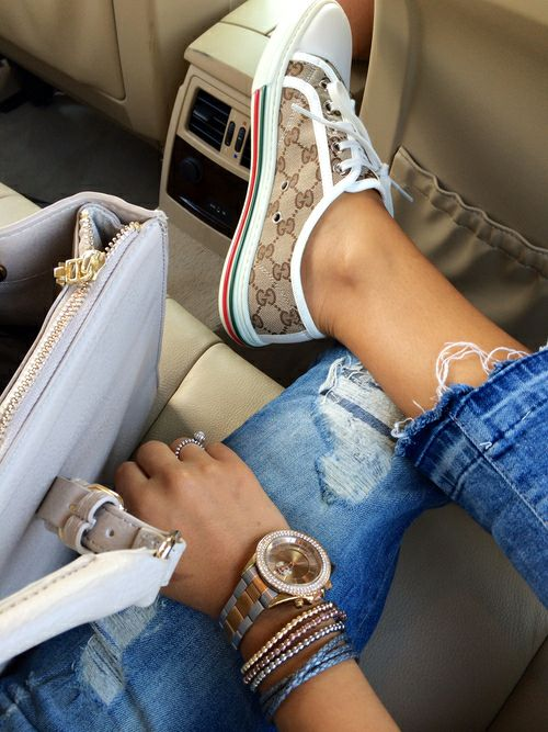 Summer Fashion Girls Ripped Jeans to Wear Now #Summer #RippedJeans