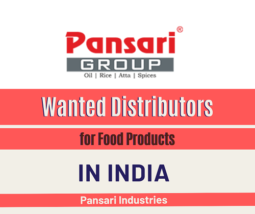 Wanted Distributors for Food Products in India