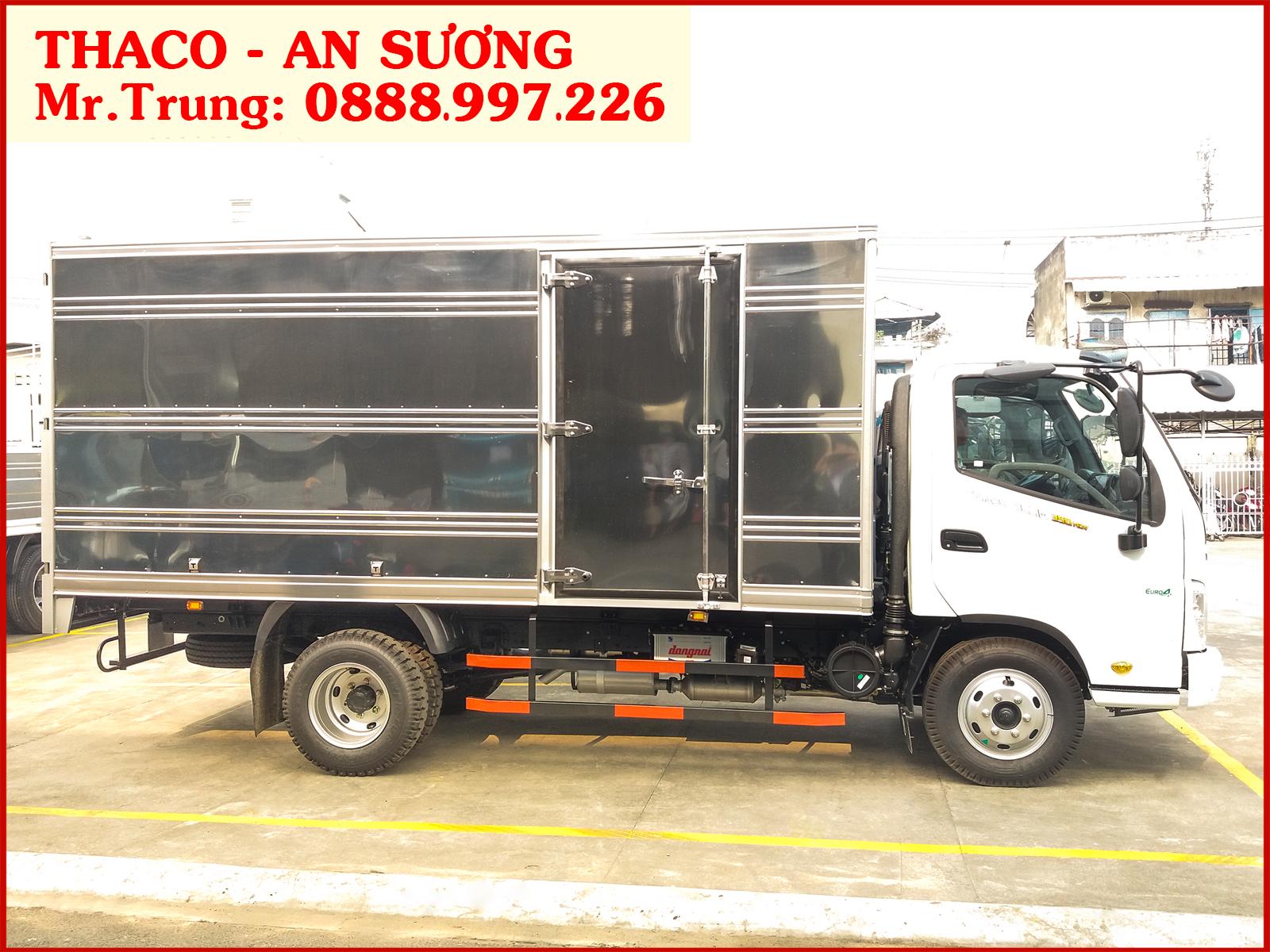 Xe tải OLLIN 350 có kích thước thùng dài 4.35 mét