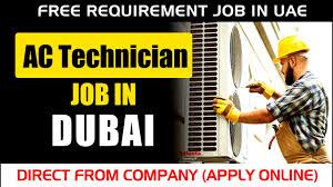 Al Rais Enterprises Group Dubai  Required Diploma or ITI AC Technician Experienced Candidates