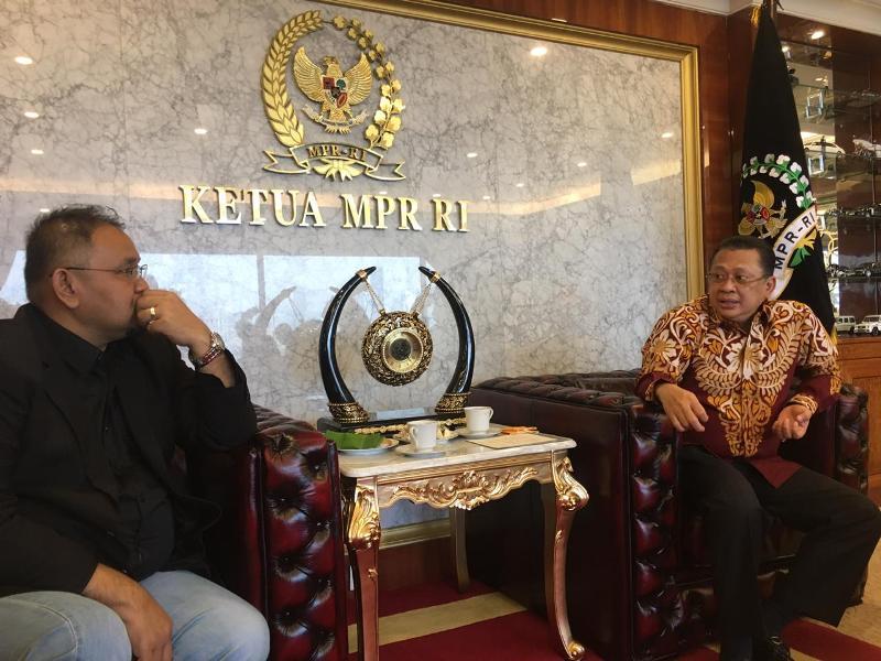 Terima Pengurus JMSI, Ketua MPR Dorong Stimulus Industri Pers Segera Dieksekusi