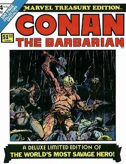 Conan the Barbarian Marvel Treasury Edition, Roy Thomas, Barry Smith, Red Nails and Rogues in the House