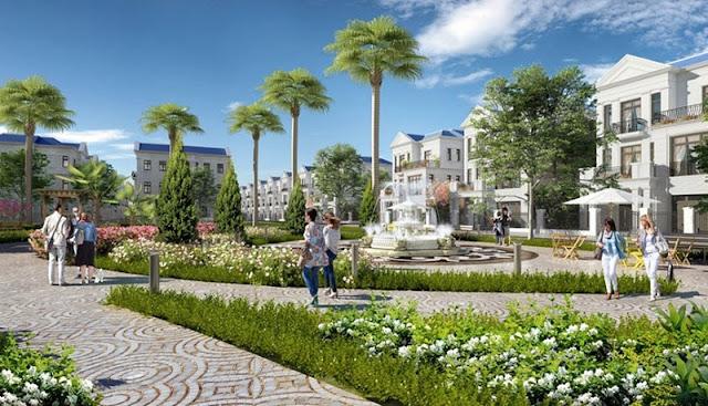 Không gian xanh tại khu đô thị Vân Canh