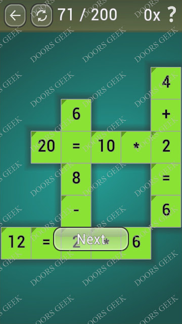 Math Games [Beginner] Level 71 answers, cheats, solution, walkthrough for android