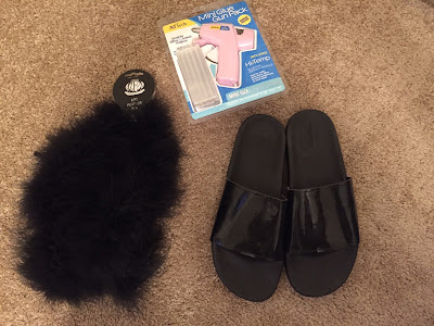 DIY Fluffy Slide Sandals