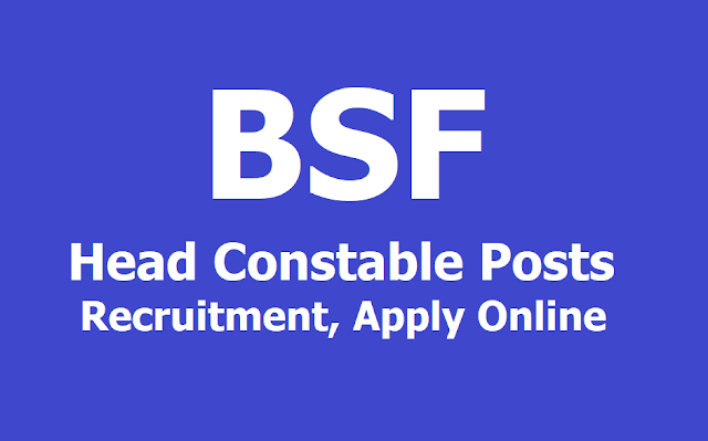 BSF Head Constable Posts Recruitment