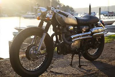 Honda CL350 Modifikasi Cafe Racer Scrambler