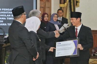 Bupati Trenggalek Terima Penghargaan Atas Pencapaian Maturitas SPIP Level 3 dari BPKP
