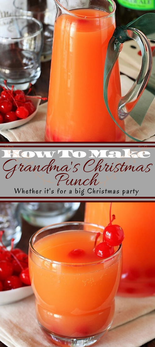 Grandma's Christmas Punch  #healthydrink #easyrecipe #cocktail #smoothie