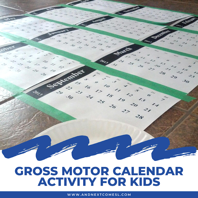 Learning the months of the year calendar activity for kids
