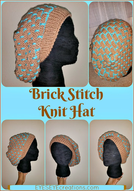 The BRICK STITCH Knit Hat