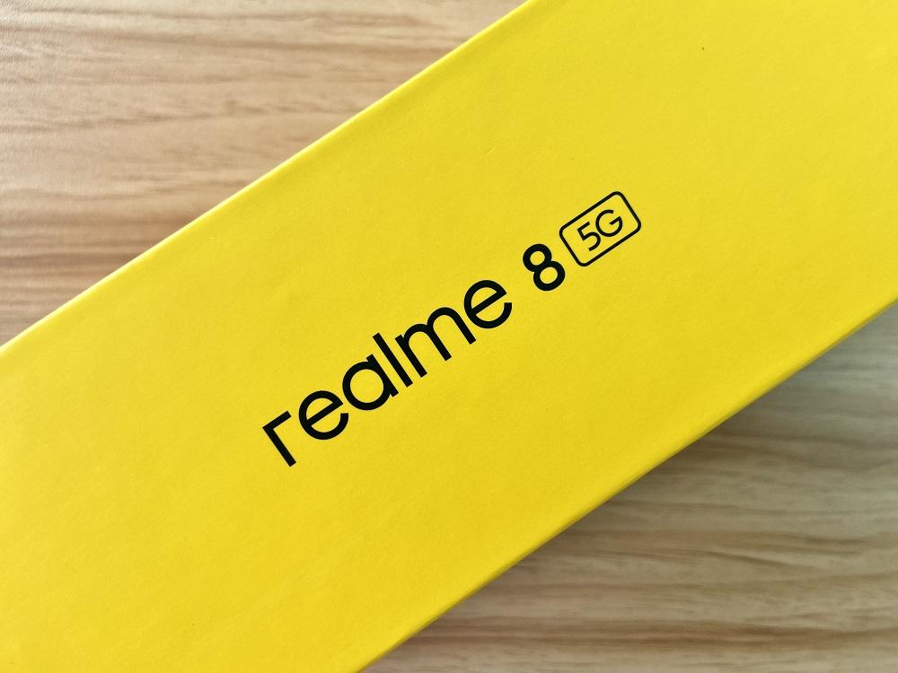 realme 8 5G Retail Box - Sides