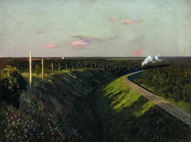 Исаак Ильич Левитан - Поезд в пути. 1890-е