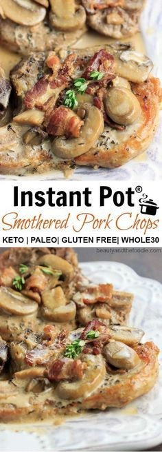 Instant Pot Keto Smothered Pork Chops