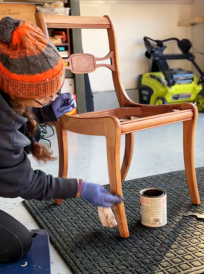 Duncan Phyfe chair makeover